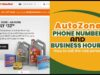 AutoZone Phone Numbers and Business hours