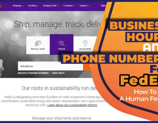 Business Hours And Phone Numbers For FedEx