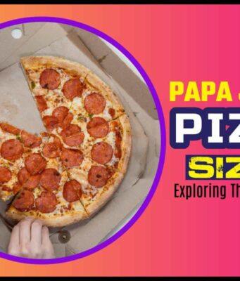 Papa John's Pizza Sizes